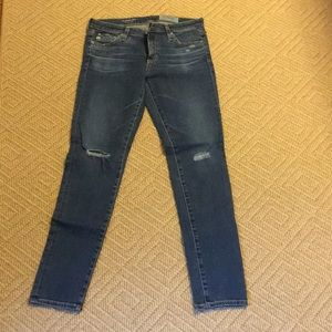 AG jeans with distressed knees